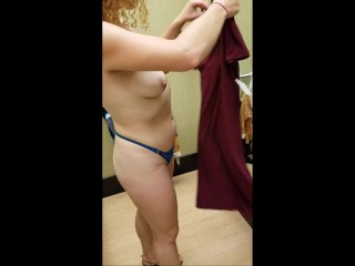 Vibrating Butt Plug While Shopping and Changing Nikki Andrews