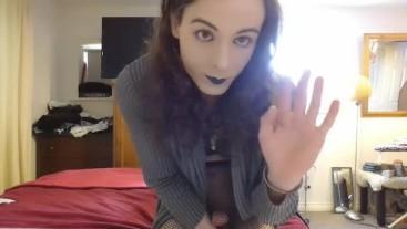 Cum with me, sissy secret JOI
