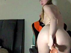 sucking and fucking my dildo - Ally Blake