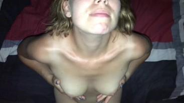 Cumspray on my Tits