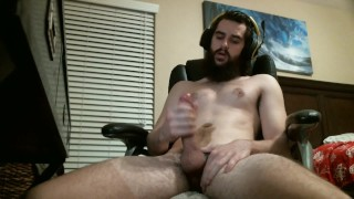 Porn You - Bearded-Guy Hot Gamer Guy Cums On Himself Jerking To Porn