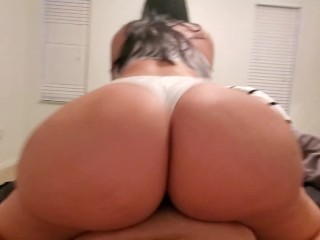 19 year old curvy girl fucked through white Calvin Klein panties