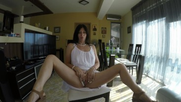 StepMom`s Helping Hand and Pee - POV Handjob and Golden Shower