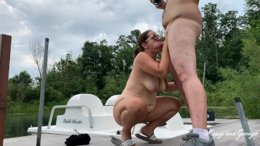 Outdoor Blowjob - Missy Sucks Georges Uncut Cock Full Nude Married Couple