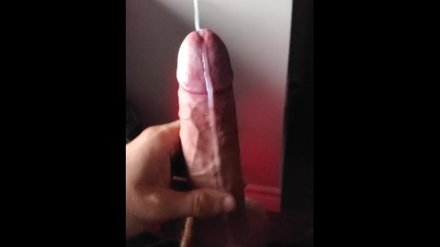 Huge cum shot clip - Non ending cum stream and huge cum shot while edging on a cock hero clip