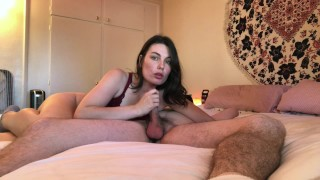 18 year old girlfriend loves riding dick and swallowing cum