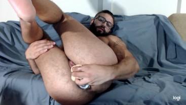 Sexy FTM TransMan Enjoys Double-Stuffed Jerkoff