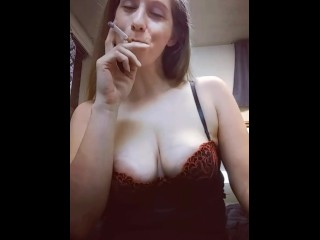 Smoking and Playing With My Tits TEASER (15 Aug 2019)