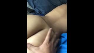Jiggling and Spanking Cute Petit Teen's Ass