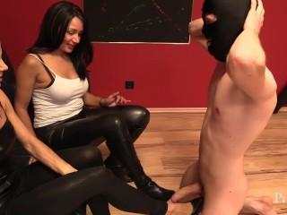 Feet Slut Perfect Footrest for Mistress Mera and Lady G