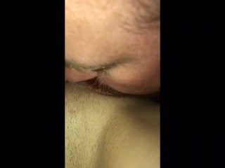 Hot Milf pleasured by husband ends with a golden shower in his mouth