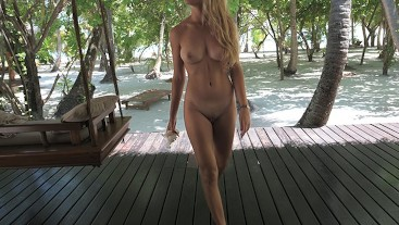 She needs 2 minutes to make me CUM before going inthe ocean-morningpleasure