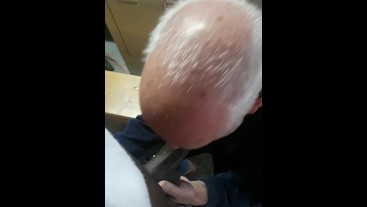 BOSS SUCKING HIS WORKER IN PUBLIC