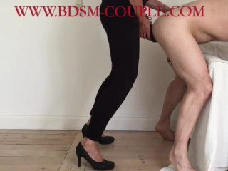 Miss M. pegs her slave DEEP with a HUGE STRAPON (17 Aug 2019)