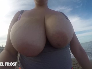 Big Titty Teen Jogging Down The Beach with Her GoPro! (17 Aug 2019)