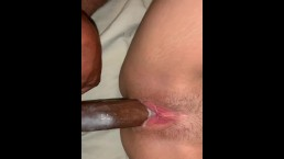Teen gets early morning bbc!! Very creamy