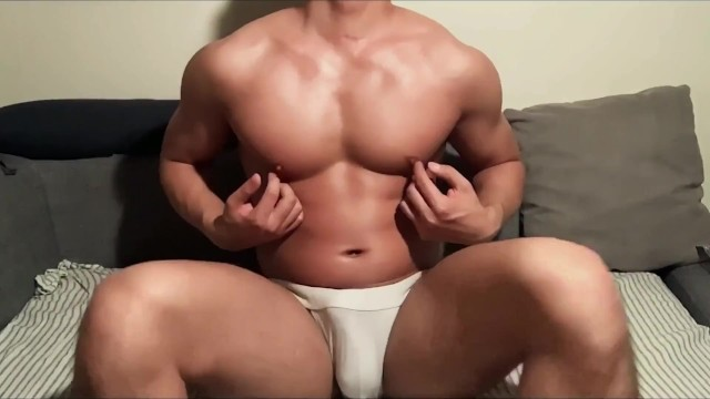 Gay sex video preview - Korean gay nipple playing and cumming preview