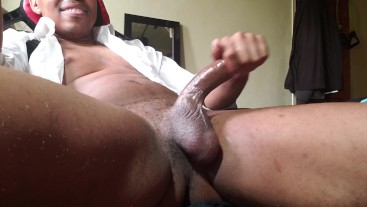 Fun jerking off my big cock