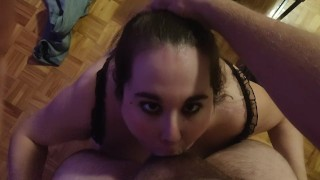 BBW Slut is Hungry for my Cock [POV + Cumshot]
