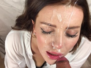Zane S Sex Chronicels Powerful Squirt And Blowjob With Cum On Face- Blue Gloves, Babe Blowjob