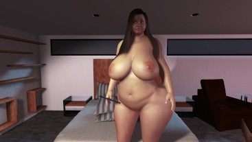 Sexy BBW Teen Grows Huge Boobs Belly and Ass - Massive Weight Gain