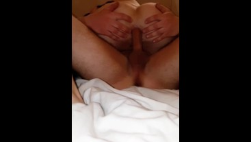 Fit Amateur Gets Creampied And Continues Fucking Ass