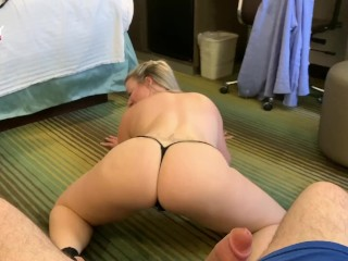 Emmy Demure Gives A Striptease & Lap Dance before Sucking her fan - Clip (19 Aug 2019)