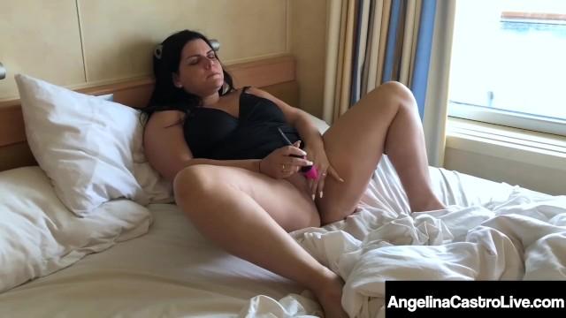 BBW Angelina Castro Masturbates as Virgo Peridot Blows BBC!