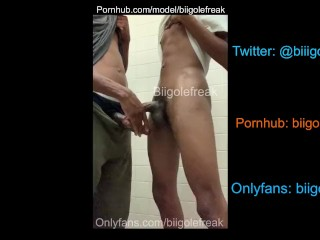 2 BIG DICK TEENS STROKING IN PUBLIC RESTROOM AND CUM ON EACHOTHER (19 Aug 2019)