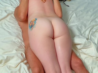 He Cums Deep Between my Thick Pale Thighs | Ginger Belly to Belly ThighJob