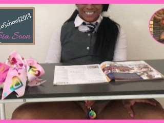 Ebony student sucks and fucks her way out of detention ensationalSia Big Sexy, Sia Soon