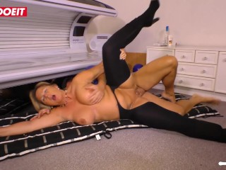 AMATEUR EURO German housewife goes for hardcore sex in the basement