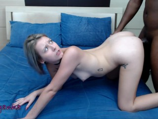 Petite Blonde Fucks BBC And Swallows (20 Aug 2019)