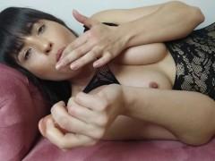 Beautiful agony - cumming on dildo