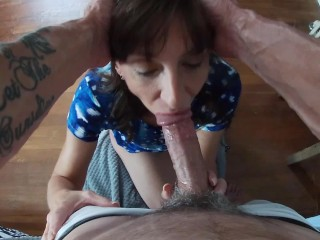 Shadow Gets His Big Cock Sucked By Sexy Milf Marie She Swallows