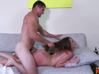 Voluptuous Girl Porn Fucking, Fit College alphA Banger Fucks Hot Brunette With Killer Body Babe Brun