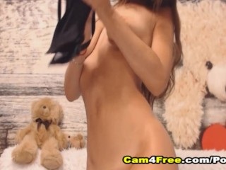 Sexy Babe Enjoys Fucking Herself And Squirt In The End