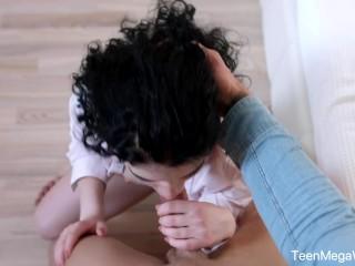 X-Angels.com – Black Angel – Babe takes hot cum shower