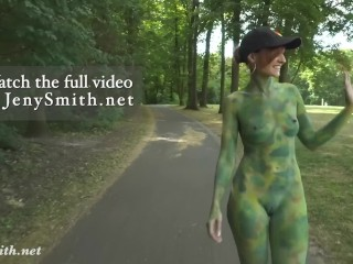 Invisible nakedness in the city. Body Art with public nude by Jeny Smith (21 Aug 2019)