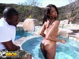 BANGBROS - Skinny Ebony Babe Adriana Malao Gets Her Nice Ass Banged
