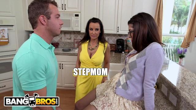 BANGBROS - Lucky Step Son Bangs His GF Ava Taylor & Stepmom Lisa Ann