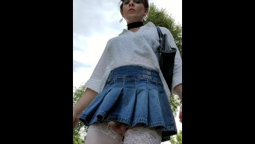 A skirt so short my penis is peeking out