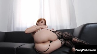 Ginger Penny Pax Gets 2 Phat Loads Of Cum After Double Team!
