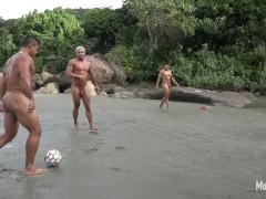 Naked muscular football
