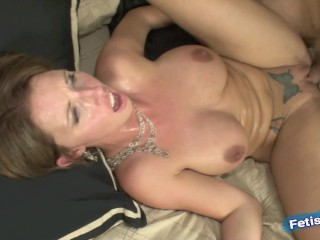 Big titted secretary banged hard by older boss to get a vacation