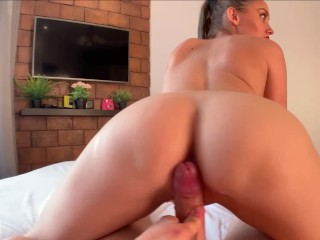 Blowjob With Lollypop and POV Cowgirl