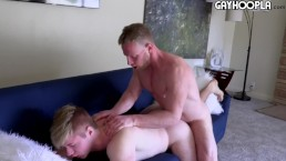 HALF HIS AGE!!! 36yo Fit Dad FUCKS 18yo Blonde Teen. CRAZY