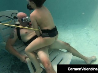 Xl Girls Password Scuba Diver Carmen Valentina Sucks & Fucks A Cock Underwater, Babe Blonde