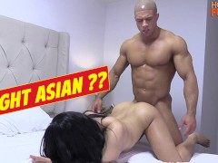 Buff Gym Rat Fucks Roomates Asian Woman. Dick Budge Bro!