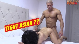 Buff Gym Rat Fucks Roomates Asian Lady DICK MOVE BRO!